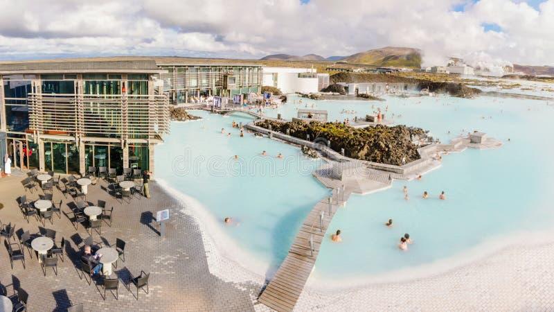 Lagune bleue - station thermale islandaise célèbre et usine géothermique, Islande photographie stock