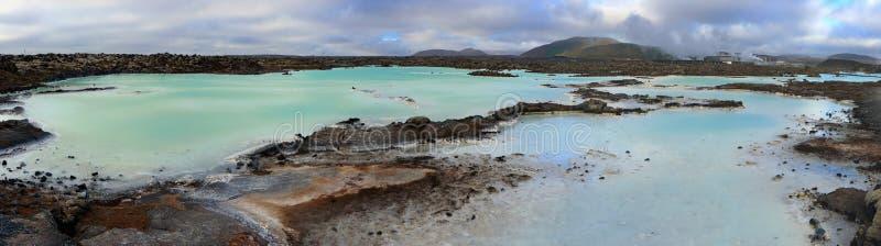 Lagune bleue sur la péninsule de Reykjanes près de Grindavik, Islande occidental photographie stock libre de droits