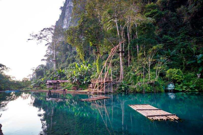 Lagune bleue, vieng de Vang, Laos photographie stock libre de droits