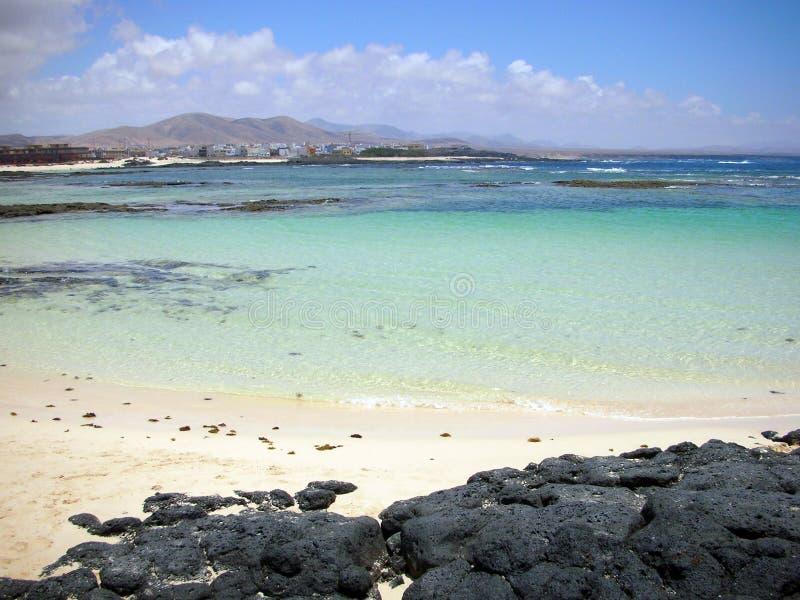 lagune d'EL fuerteventura de cotillo image stock