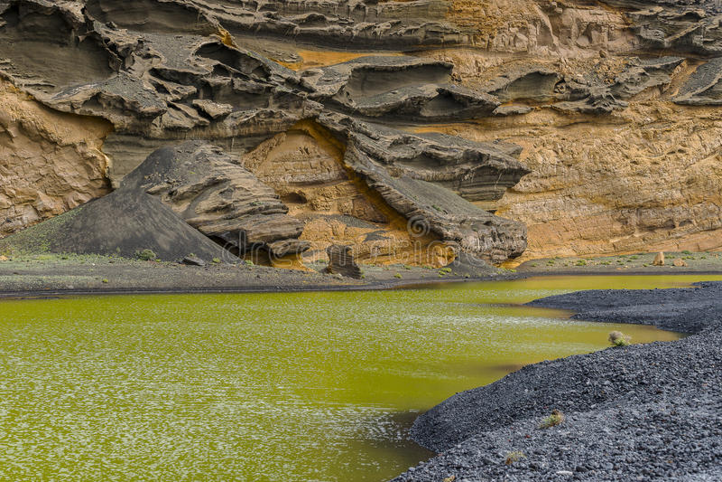 Lagune d'EL Golfo photographie stock
