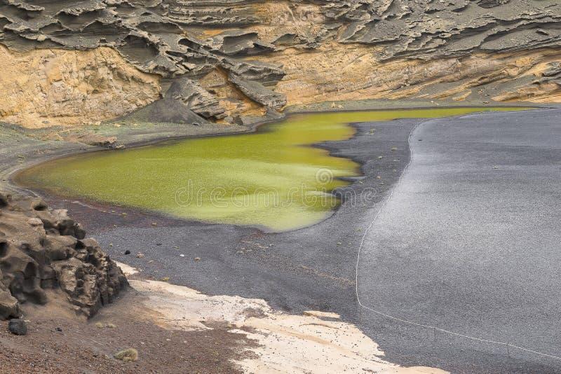 Lagune d'EL Golfo photographie stock libre de droits