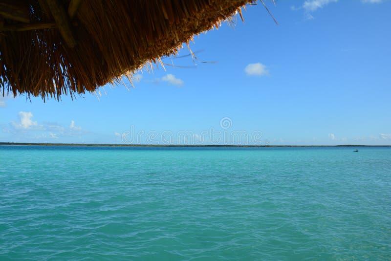 Lagune de Bacalar dans Quintana Roo Mexique photos libres de droits