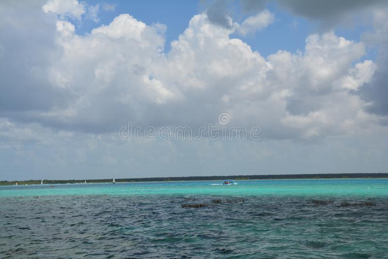 Lagune de Bacalar dans Quintana Roo Mexique images stock
