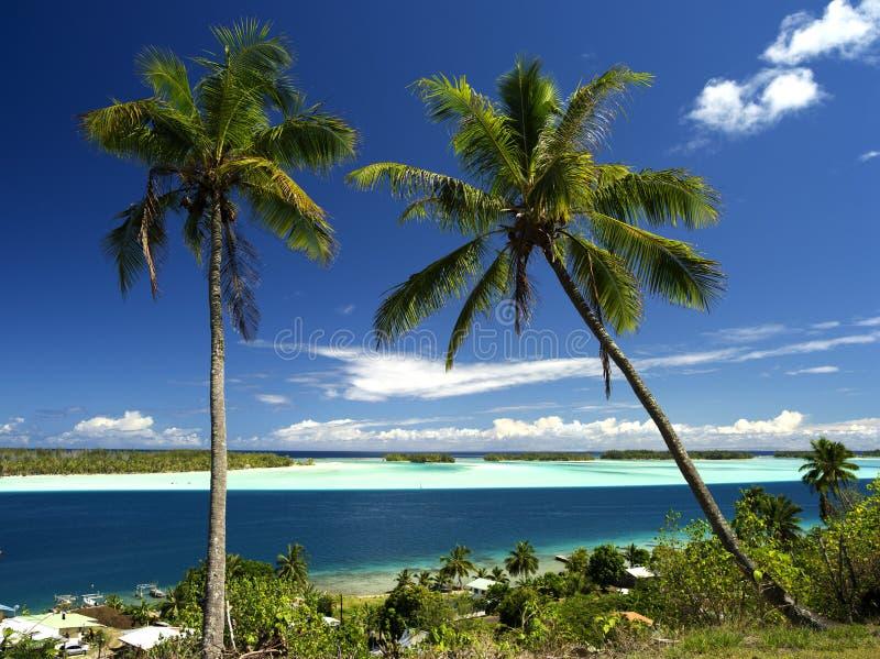 Lagune de Bora Bora image libre de droits