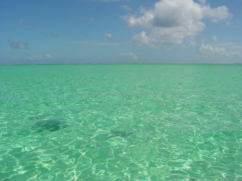 Lagune de Bora Bora photo stock
