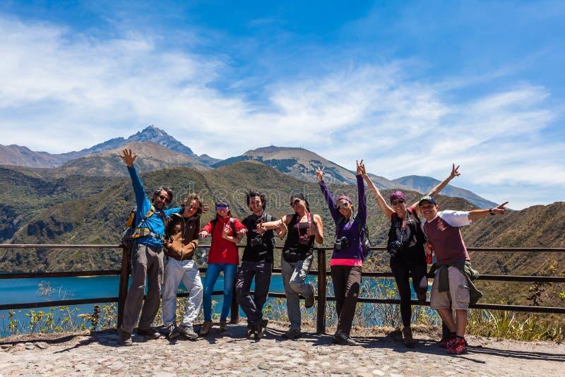 Lagune de Cuicocha photo stock