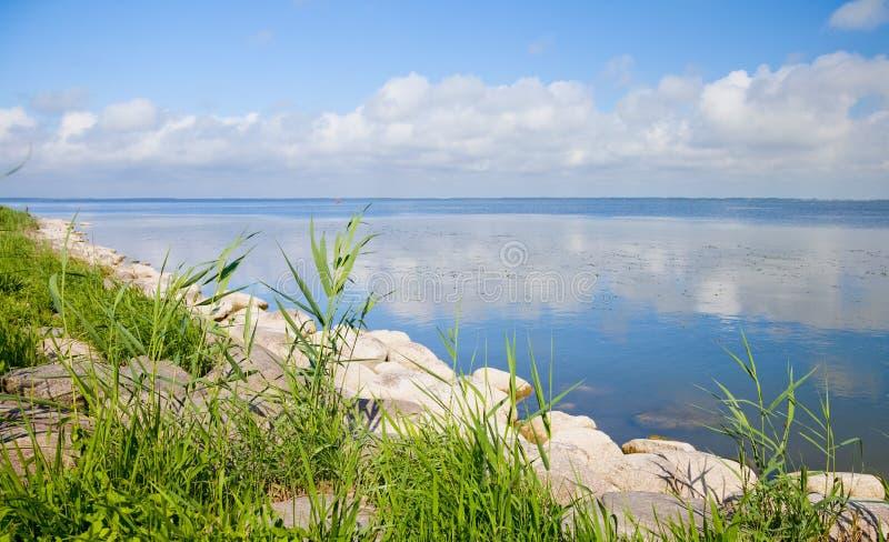 Lagune de Curonian, Lithuanie photos stock