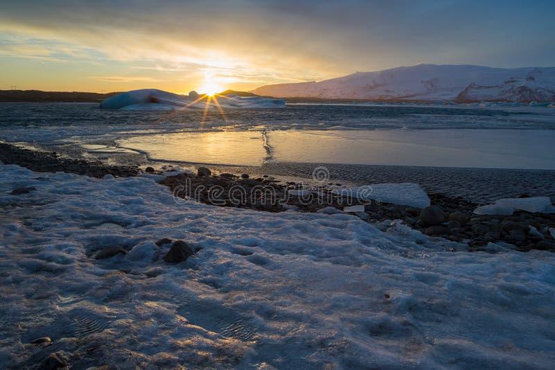 Lagune de glacier photo stock