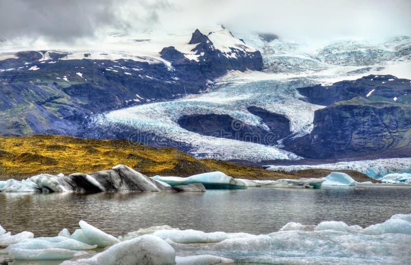 Lagune de glacier de Fjallsarlon en Islande photo libre de droits