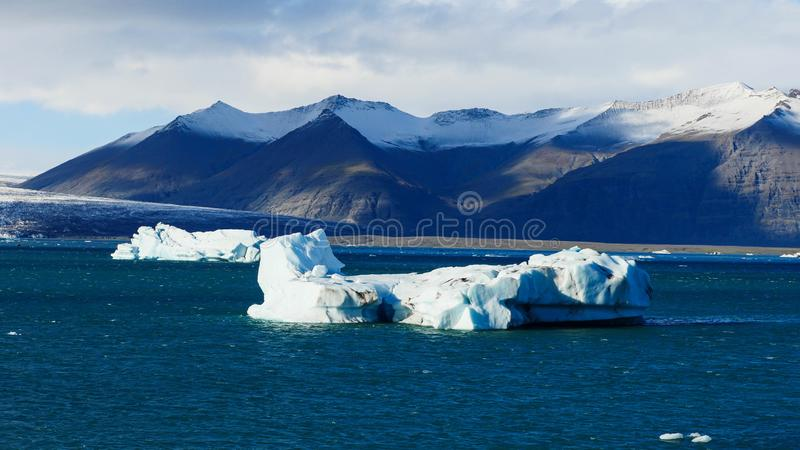 Lagune de glacier de l'Islande photo libre de droits