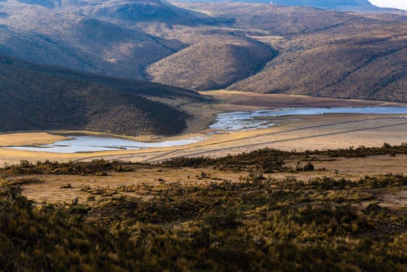 Lagune de Limpiopungo, le Cotopaxi photographie stock libre de droits