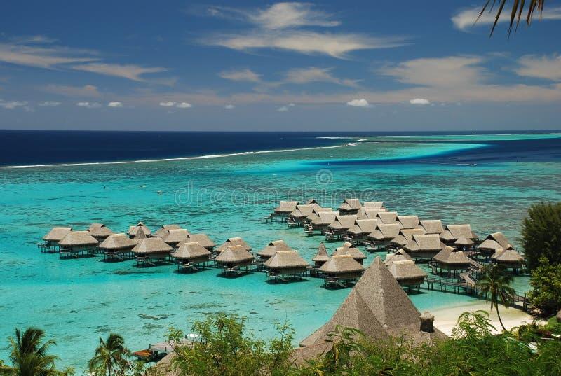Lagune de Moorea. Polynésie française photographie stock