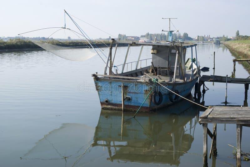 Lagune de Po Delta royalty-vrije stock afbeeldingen