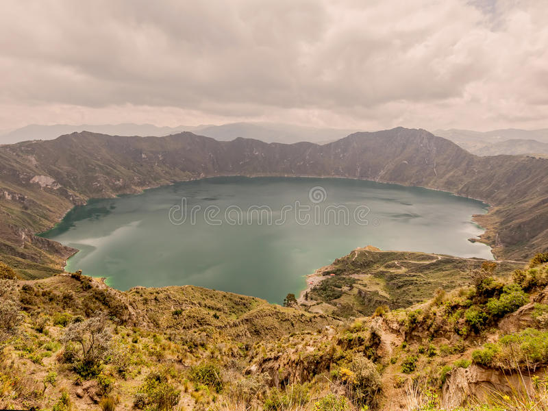 Lagune de Quilotoa, Equateur, Amérique du Sud, photographie stock
