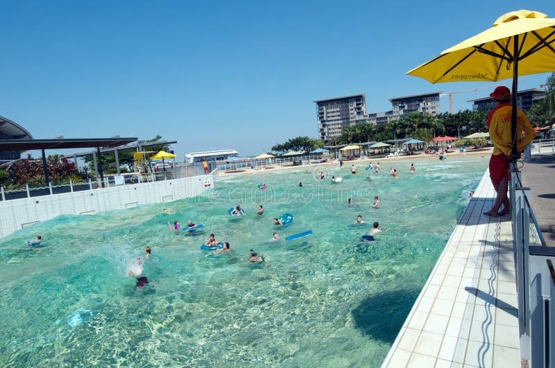 Lagune de vague, Darwin photos libres de droits