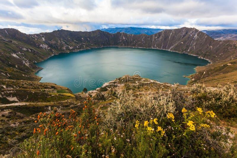 Lagune de volcan de Quilotoa photographie stock libre de droits