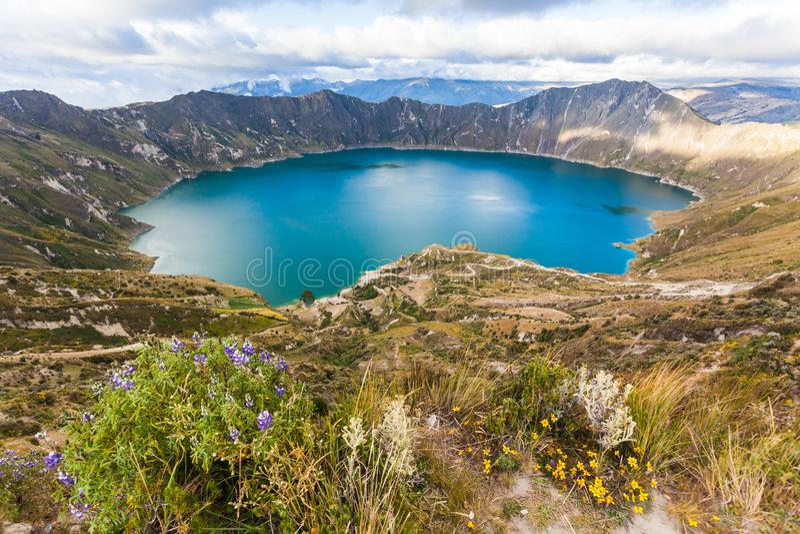 Lagune de volcan de Quilotoa photo stock