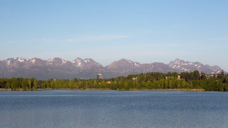 Lagune de Westchester à Anchorage photo libre de droits