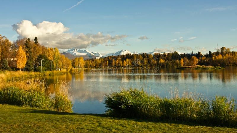 Lagune de Westchester d'Anchorage photographie stock libre de droits