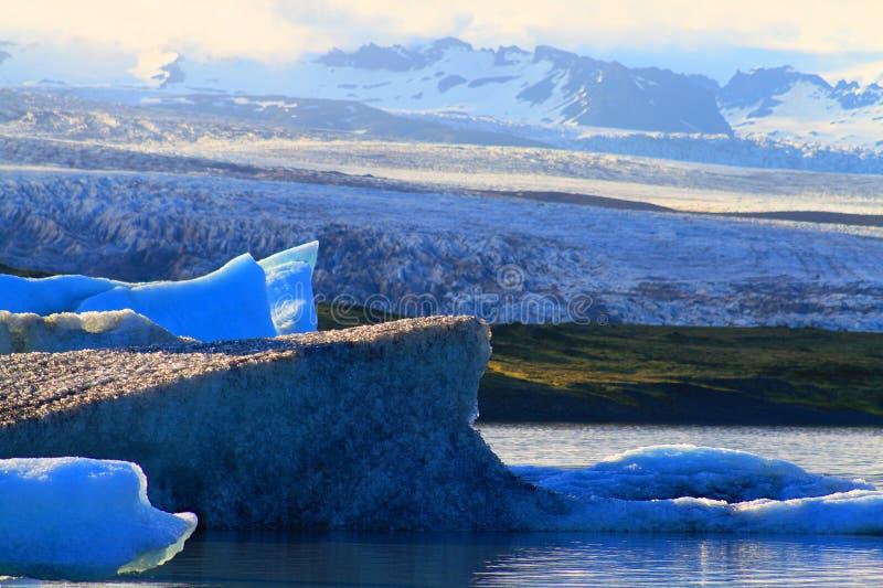Lagune glaciaire de Jorkulsarlon, Islande images stock
