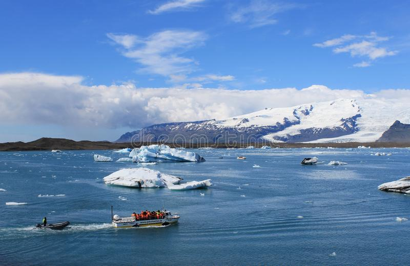 Lagune glaciaire islandaise photo stock