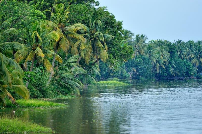 Lagune in India stock foto