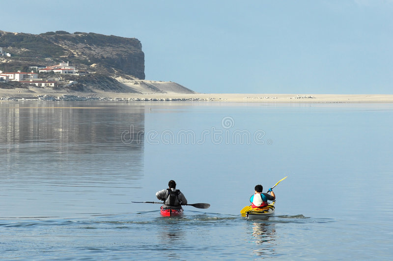 lagune kayaking de bidos images stock