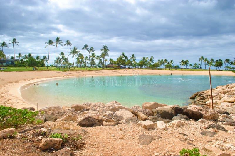 Lagune in Ko Olina stock afbeelding