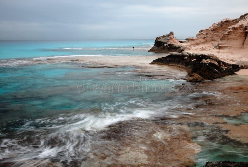 Lagune Marsa Matruh, Egypte de la plage de Cléopâtre image stock