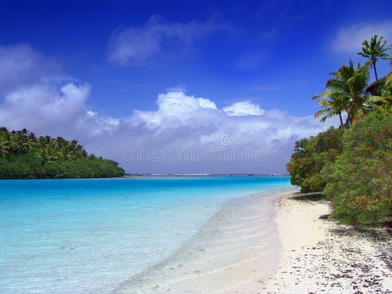 Lagune-Strand stockbild