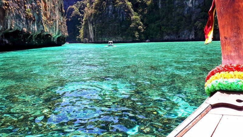 Lagune Thaïlande de phi de phi images stock