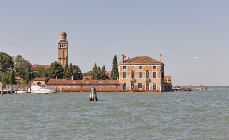Lagune und Stadtbild in Venedig, Italien stockfotografie