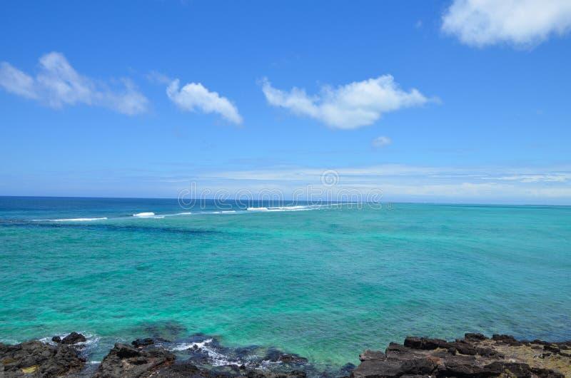 Lagune van Rodrigues Island, Mauritius royalty-vrije stock foto's