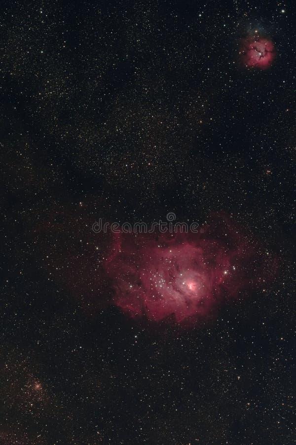Lagunen-Nebelfleck lizenzfreie stockfotos