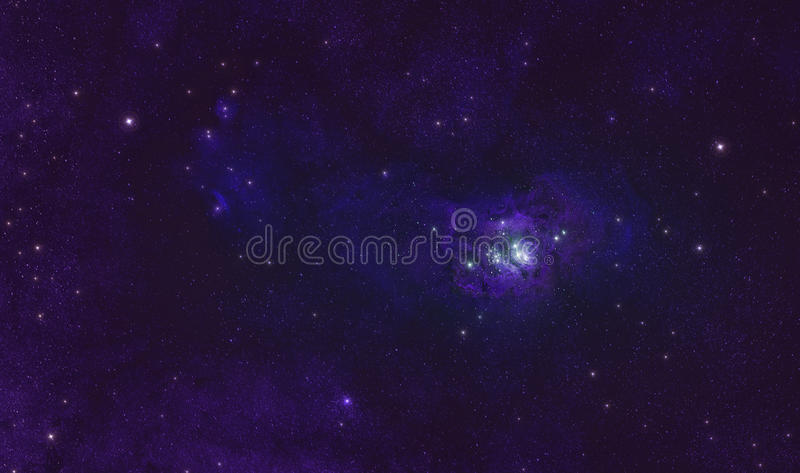 Lagunennebelfleck im Weltraumhimmel lizenzfreie stockbilder