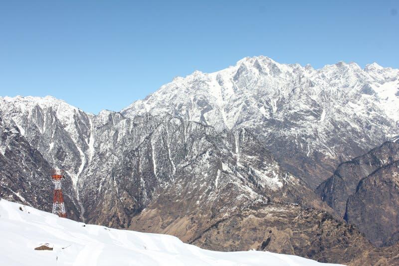 Lah ladhak Himalaya mountains, India. Winter snow time royalty free stock photos