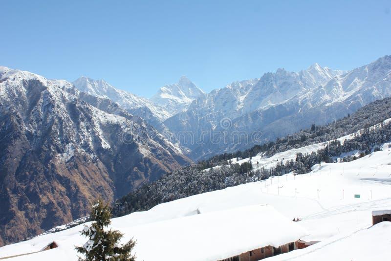 Lah ladhak Himalaya mountains, India. Winter snow time royalty free stock images