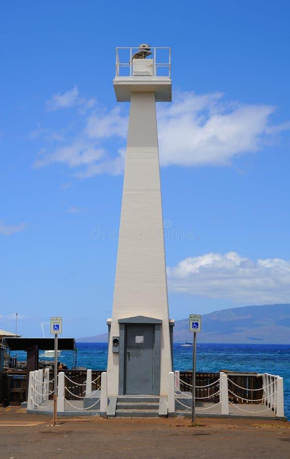 Lahaina Lighthouse editorial stock image. Image of lanai ...