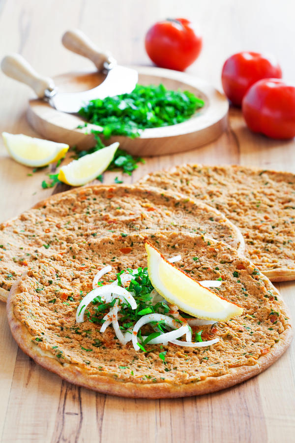 Lahmacun stock photo