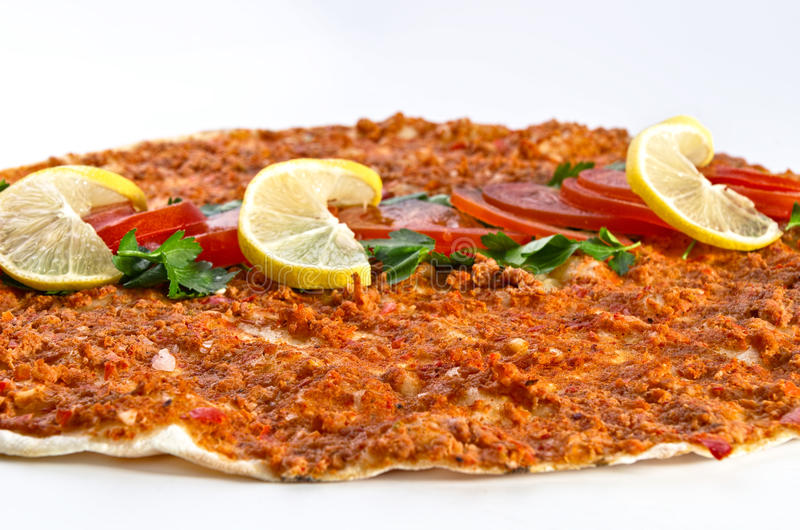 Lahmacun - Turkish pizza royalty free stock photography