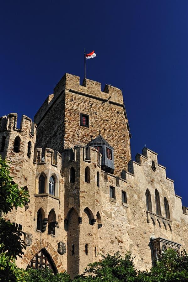 Lahneck Schloss in Deutschland lizenzfreie stockfotos