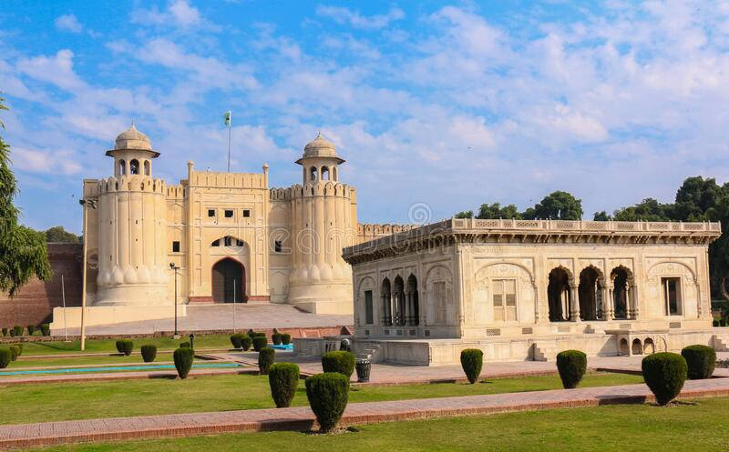 Lahore Fort. The Lahore Fort is a citadel in the city of Lahore, Punjab, Pakistan stock photography
