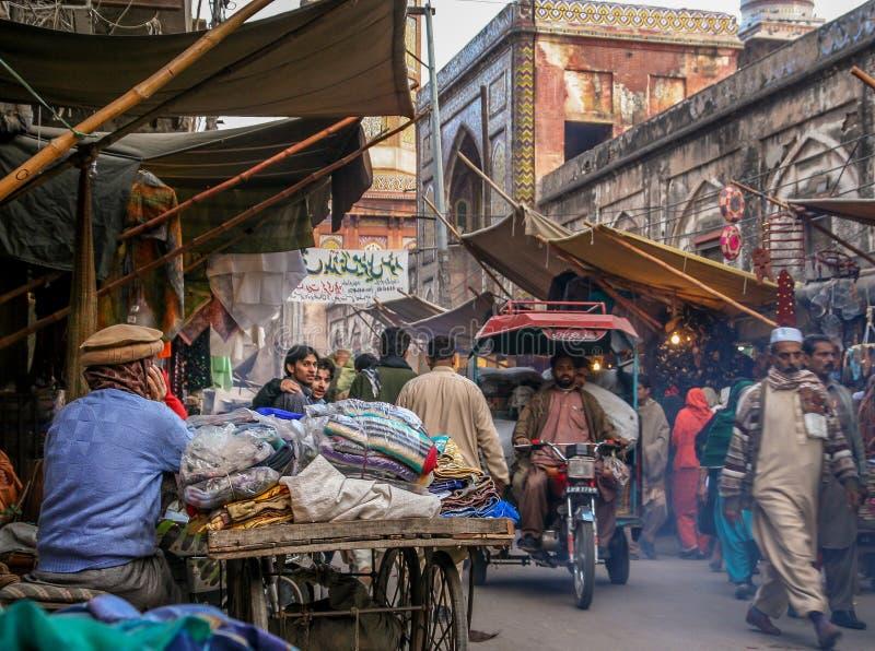 Lahore gataplats arkivfoton