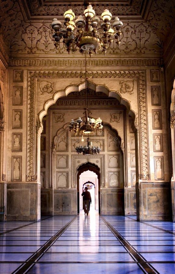 Lahore mosque stock photo