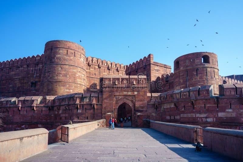 Lahore oder Amar Singh Gate von Agra-Fort in Indien lizenzfreies stockbild