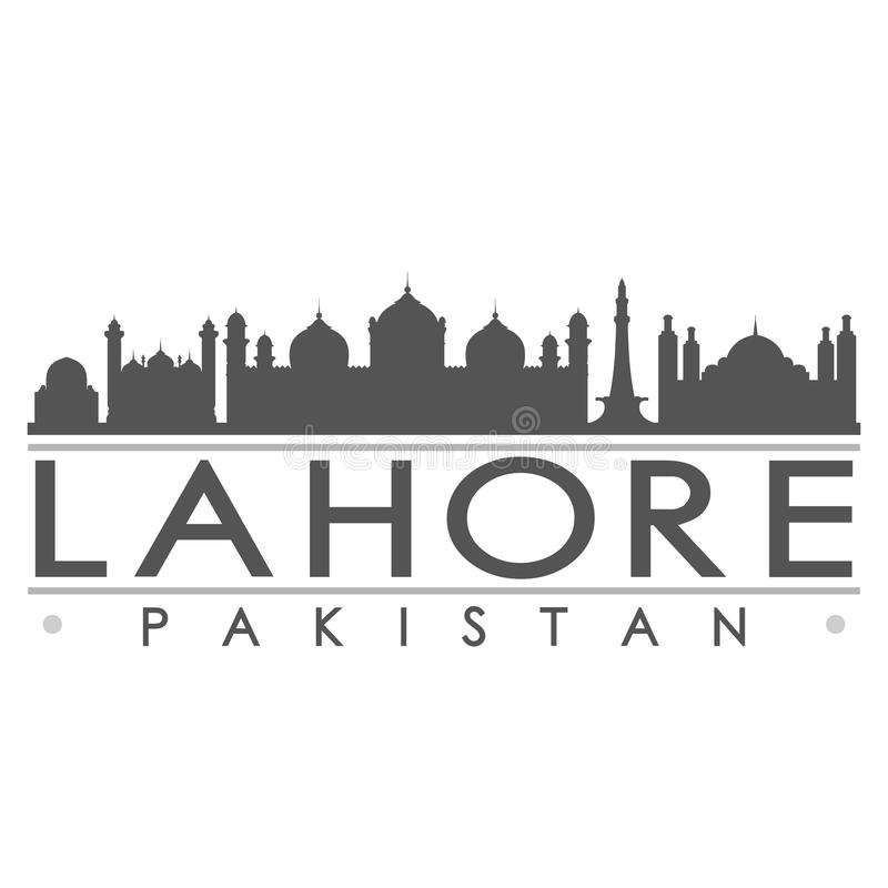 Lahore Pakistan Asia Icon Vector Art Design Skyline Flat City Silhouette Editable Template. A emblematic elements of this city, template vector icon building vector illustration