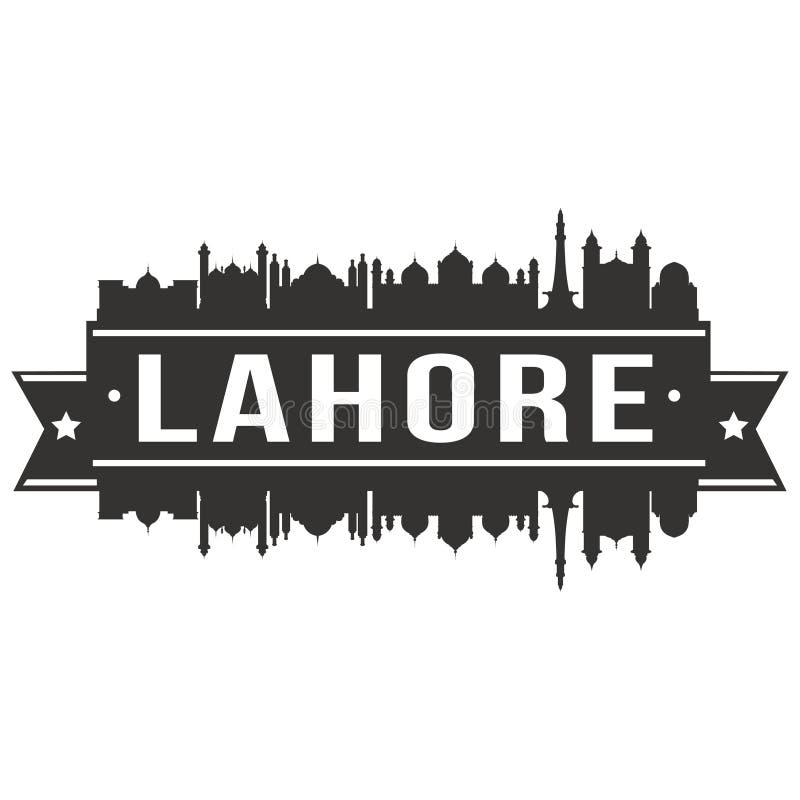 Lahore Pakistan Icon Vector Art Design Skyline Night Flat