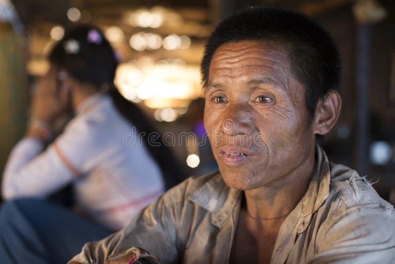 Lahu Shi Tribe, Myanmar arkivfoto