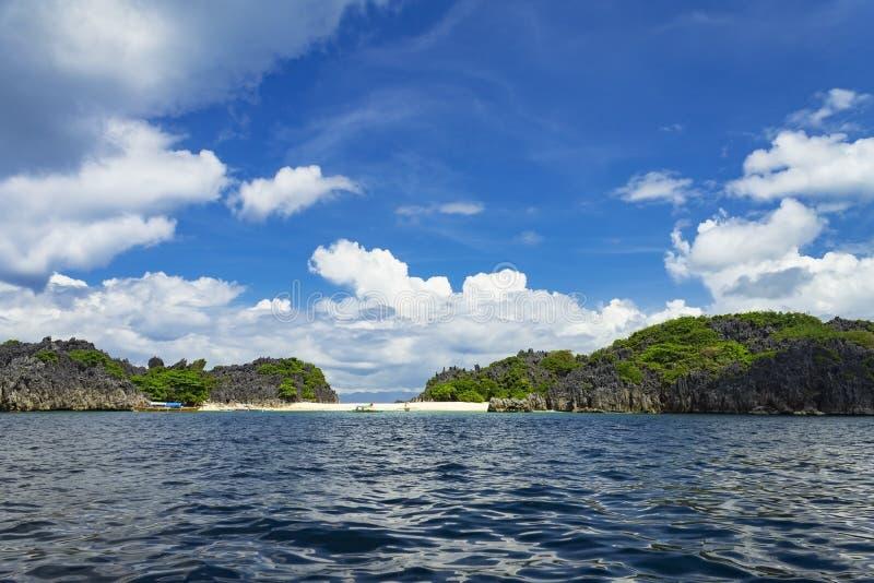 Lahus Island beach, Caramoan, Camarines Sur Province, Luzon in the Philippines. Lahus Island beach in the municipality of Caramoan, Camarines Sur Province, Luzon royalty free stock photos